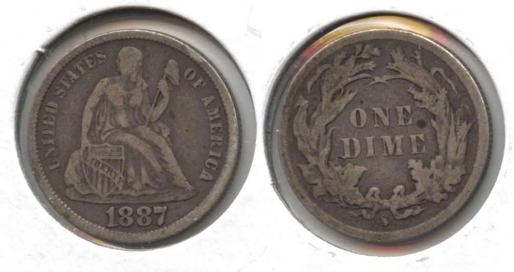 1887-S Seated Liberty Dime VF-20 #c