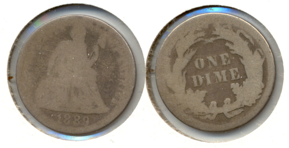 1889 Seated Liberty Dime Fair-2 b