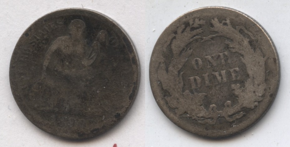 1890 Seated Liberty Dime AG-3 #c