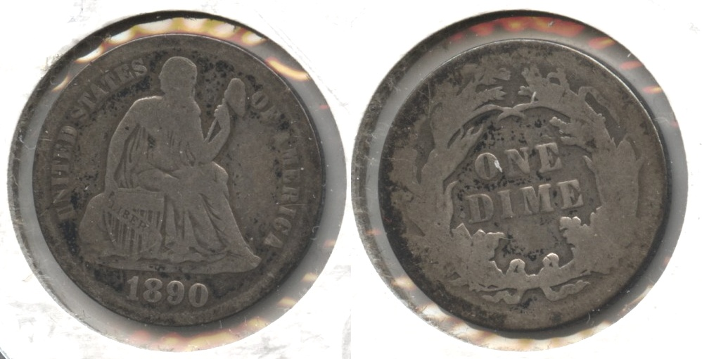 1890 Seated Liberty Dime AG-3 #d