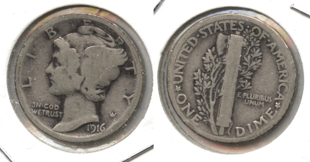 1916 Mercury Dime Good-4 #e