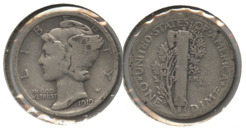 1919 Mercury Dime Good-4 #b