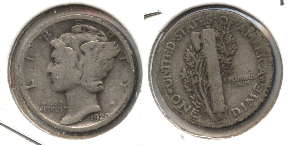 1920-D Mercury Dime Good-4