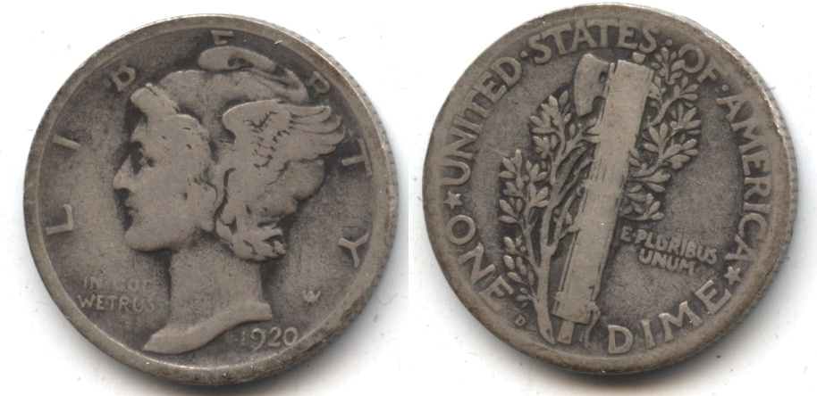 1920-D Mercury Dime Good-4 #f