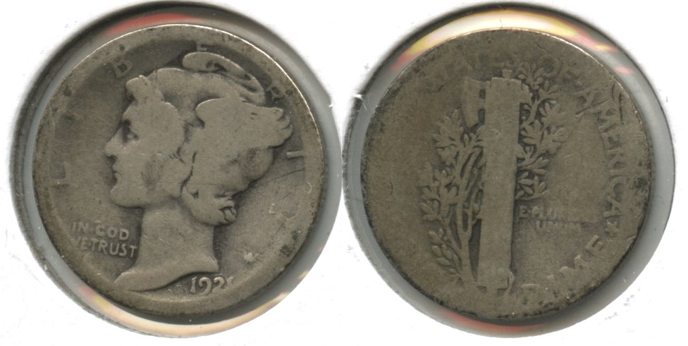 1921 Mercury Dime Fair-2 #h