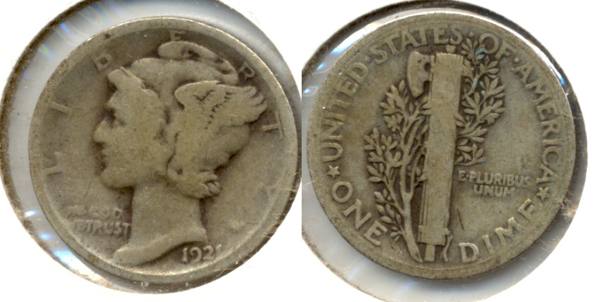 1921 Mercury Dime Good-4 a