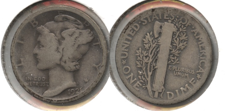 1921 Mercury Dime Good-4 #e