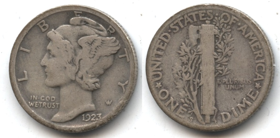1923-S Mercury Dime Good-4 #a