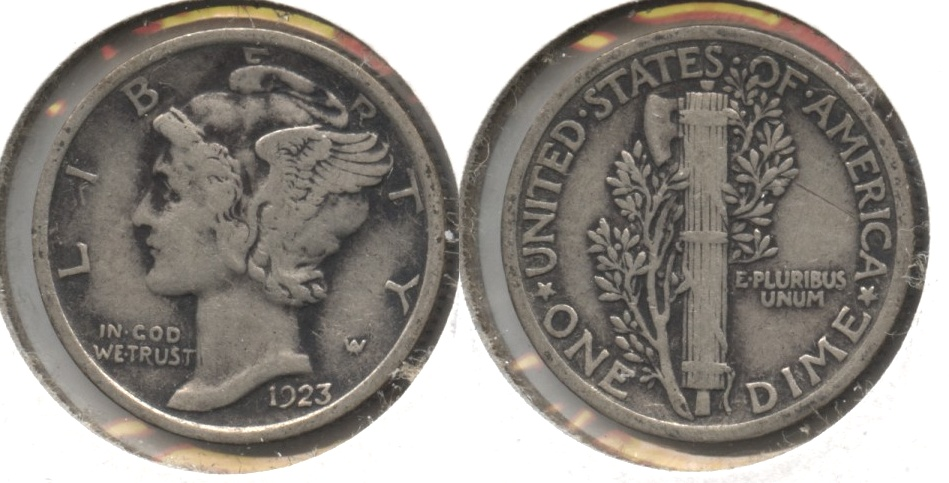 1923 Mercury Dime Fine-12 #am