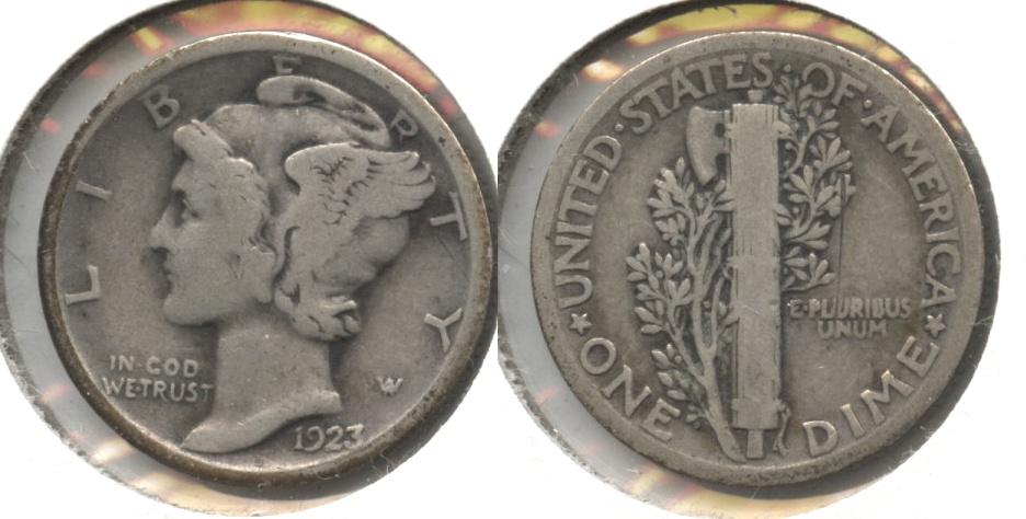 1923 Mercury Dime Good-4 #ai