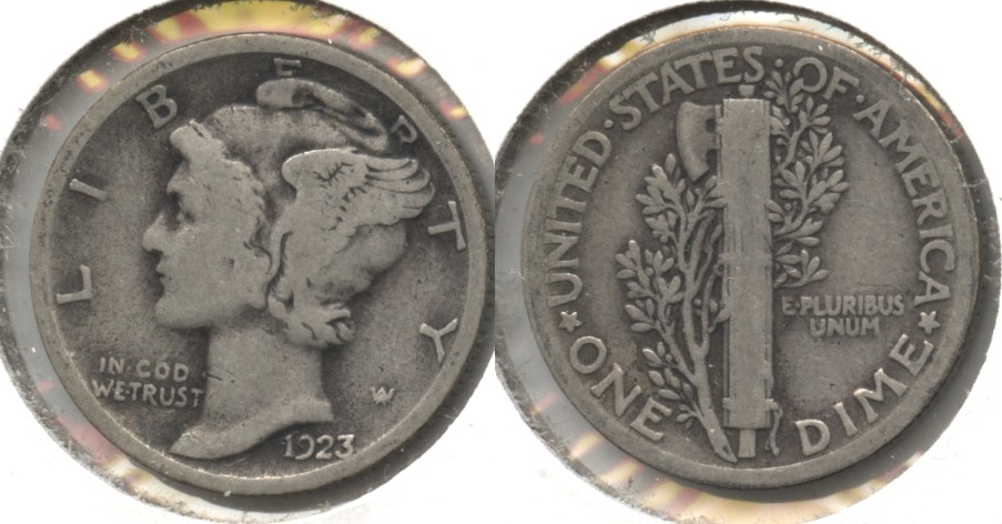 1923 Mercury Dime Good-4 #aq