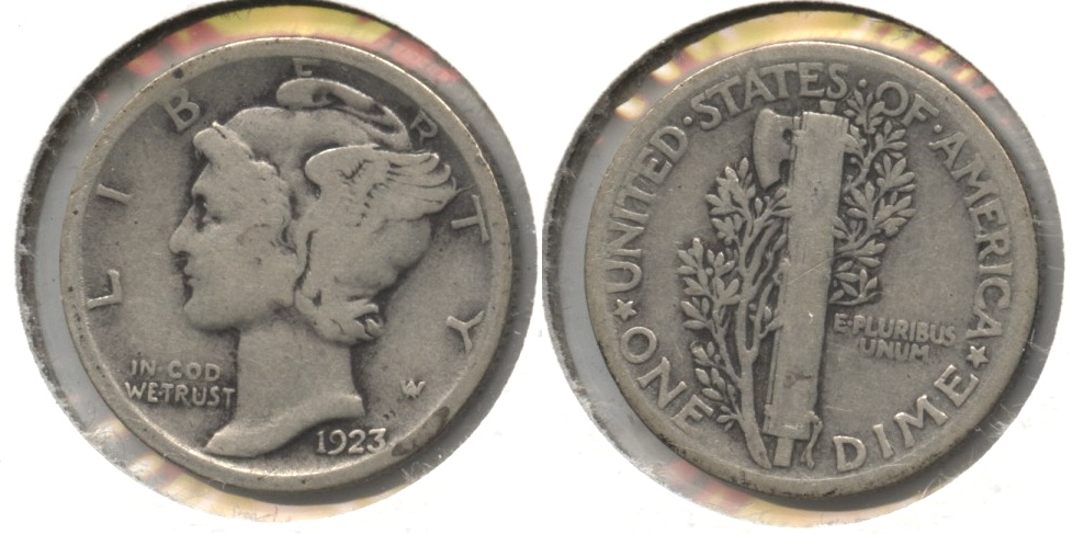 1923 Mercury Dime Good-4 #bg