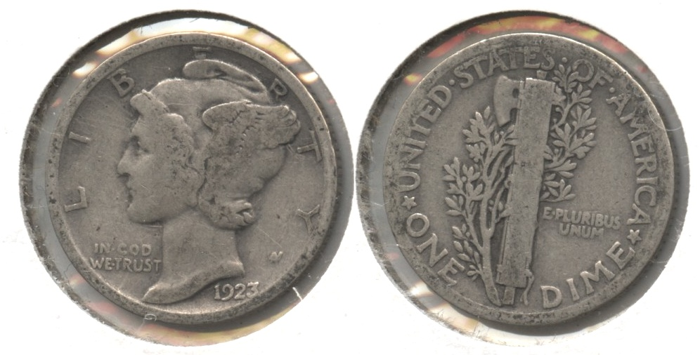 1923 Mercury Dime Good-4 #bl