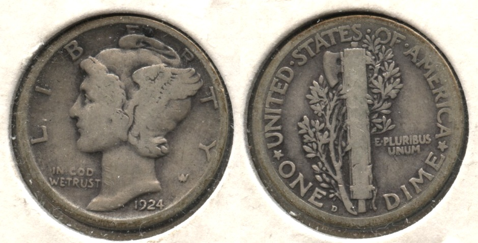 1924-D Mercury Dime Good-4