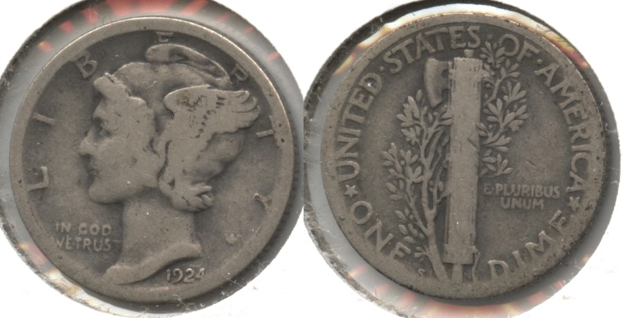 1924-S Mercury Dime Good-4 #d