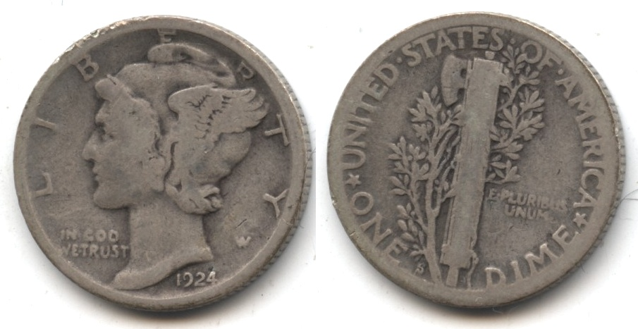 1924-S Mercury Dime Good-4 #r