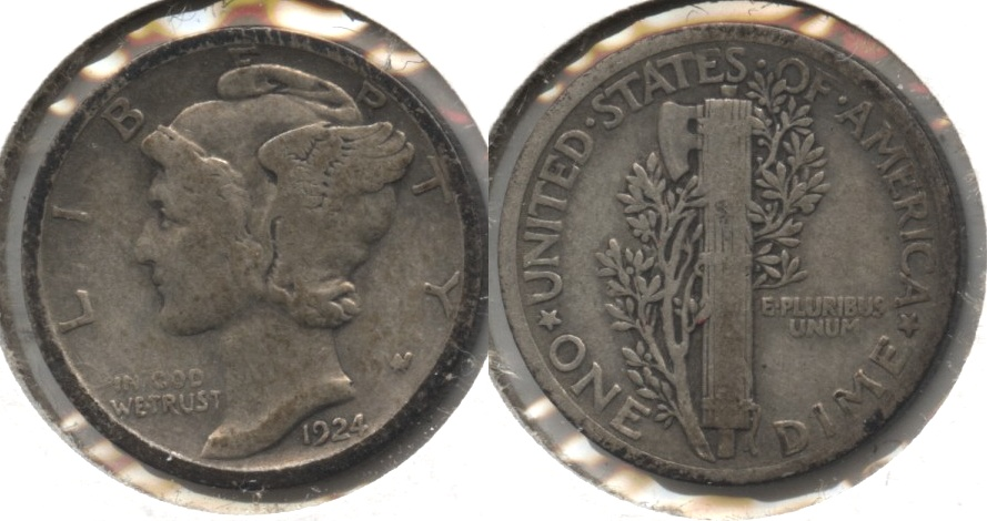 1924 Mercury Dime Good-4 #e