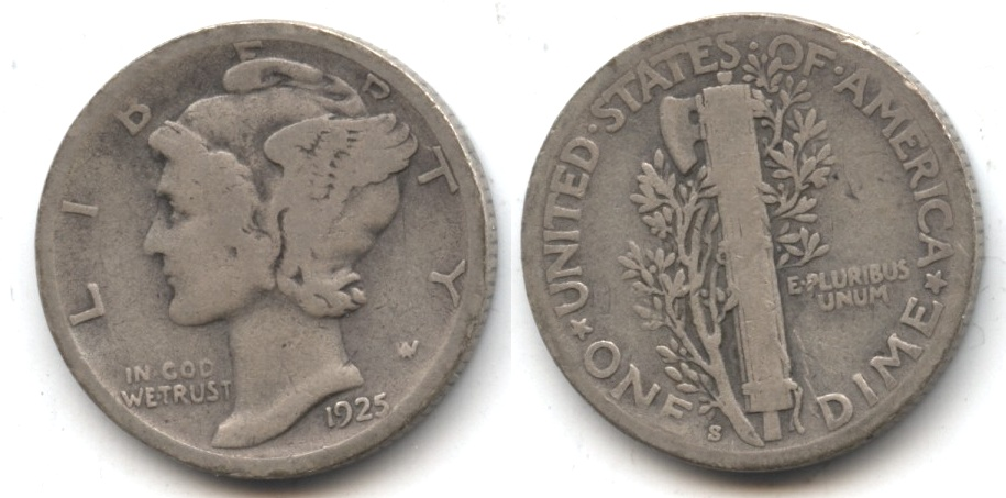 1925-S Mercury Dime Good-4 #g