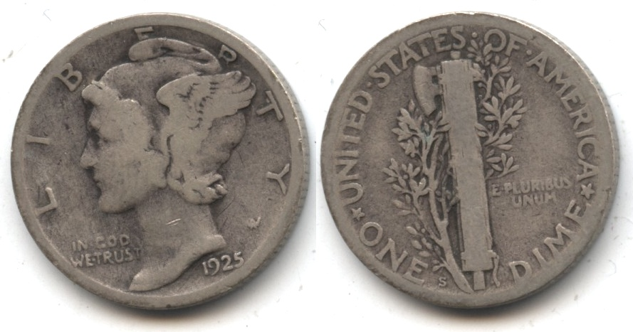 1925-S Mercury Dime Good-4 #l