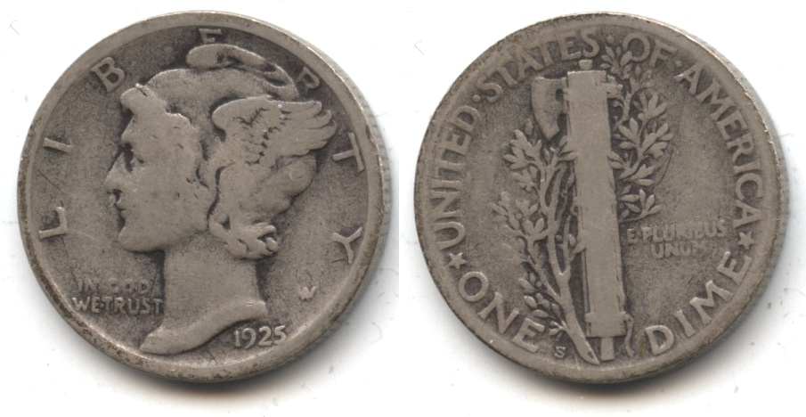1925-S Mercury Dime Good-4 #n