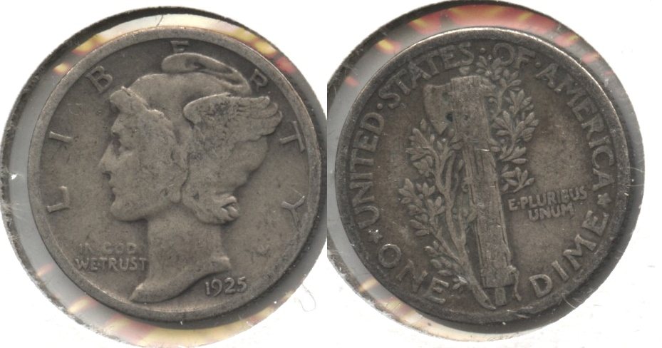 1925 Mercury Dime Good-4 #ab