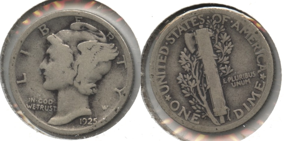 1925 Mercury Dime Good-4 #e