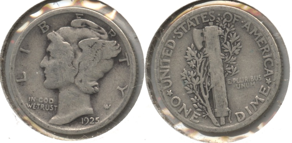 1925 Mercury Dime Good-4 #m