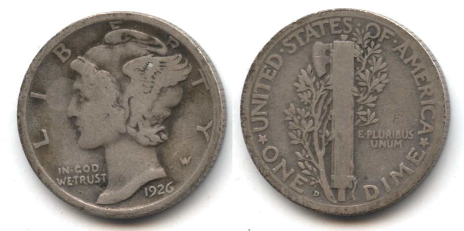 1926-D Mercury Dime Good-4 #j