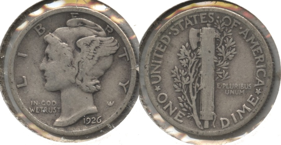 1926 Mercury Dime Good-4 #i