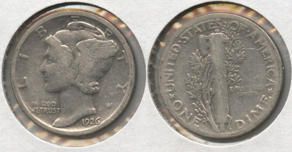 1926 Mercury Dime Good-4 #j