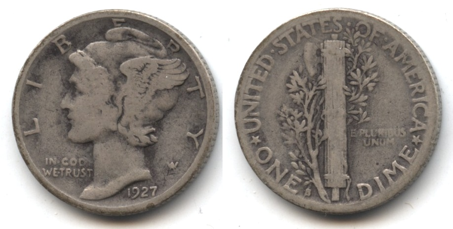 1927-S Mercury Dime Good-4 #l
