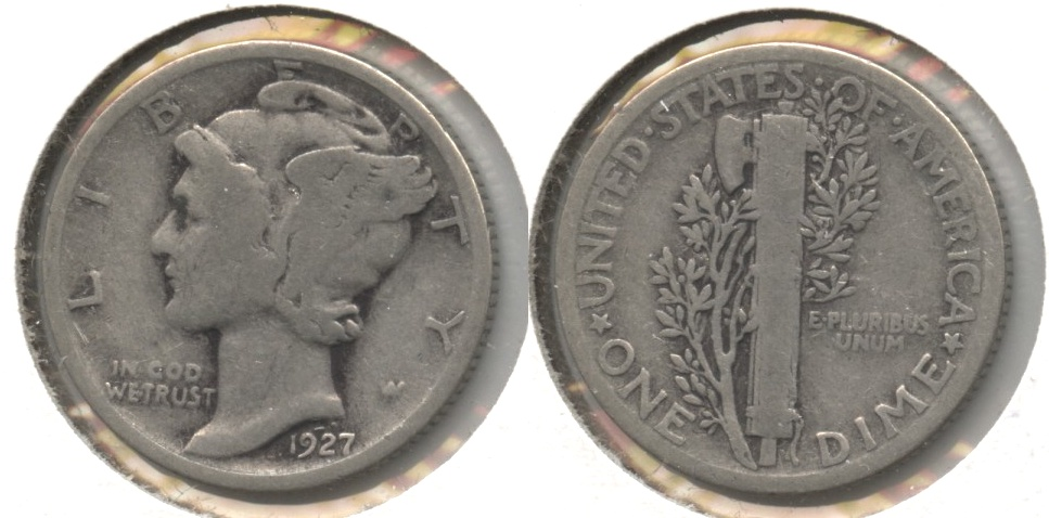 1927 Mercury Dime Good-4 #h