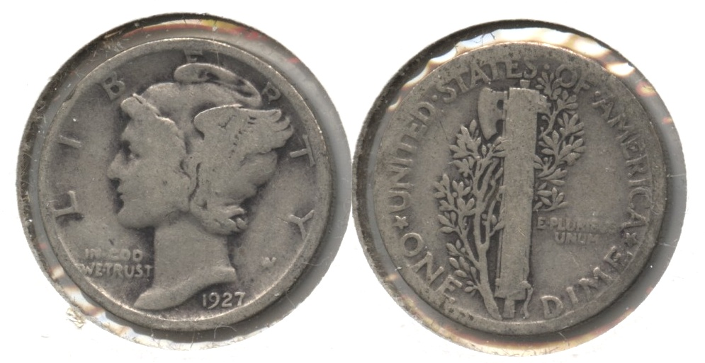 1927 Mercury Dime Good-4 #p