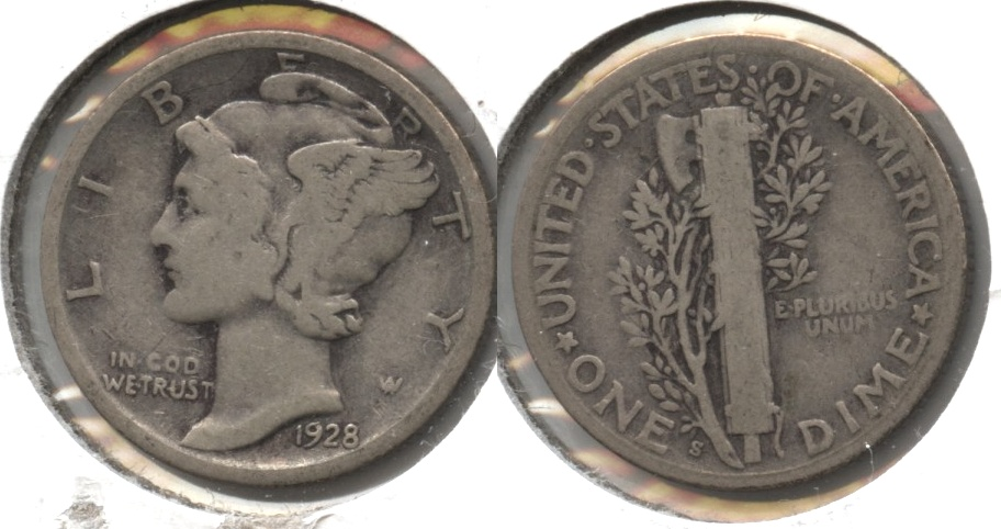 1928-S Mercury Dime Good-4 #c