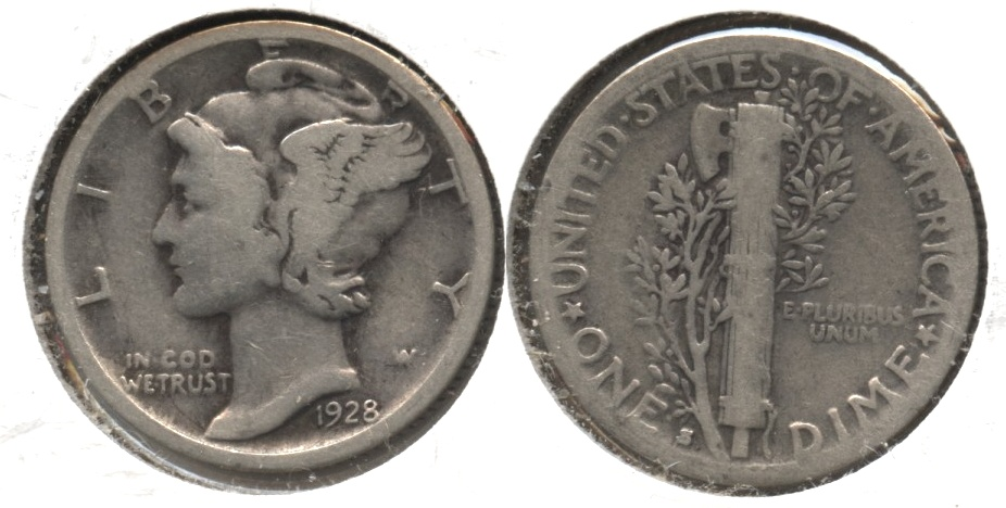 1928-S Mercury Dime Good-4 #m
