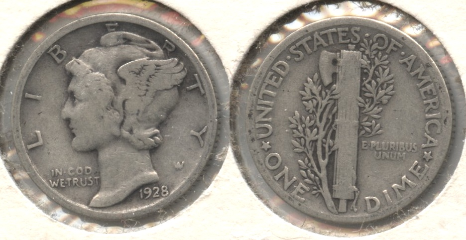 1928 Mercury Dime Good-4 #q