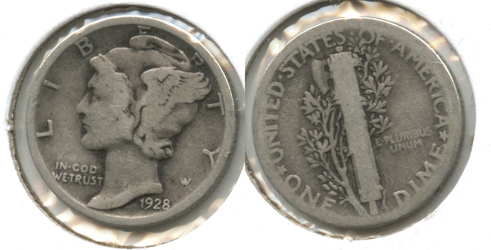 1928 Mercury Dime Good-4 #t