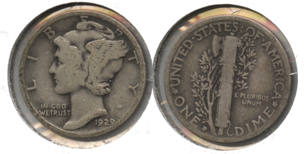 1929-D Mercury Dime Good-4