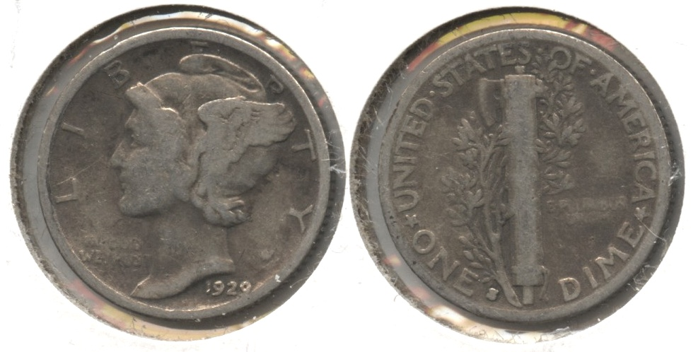 1929-S Mercury Dime Good-4