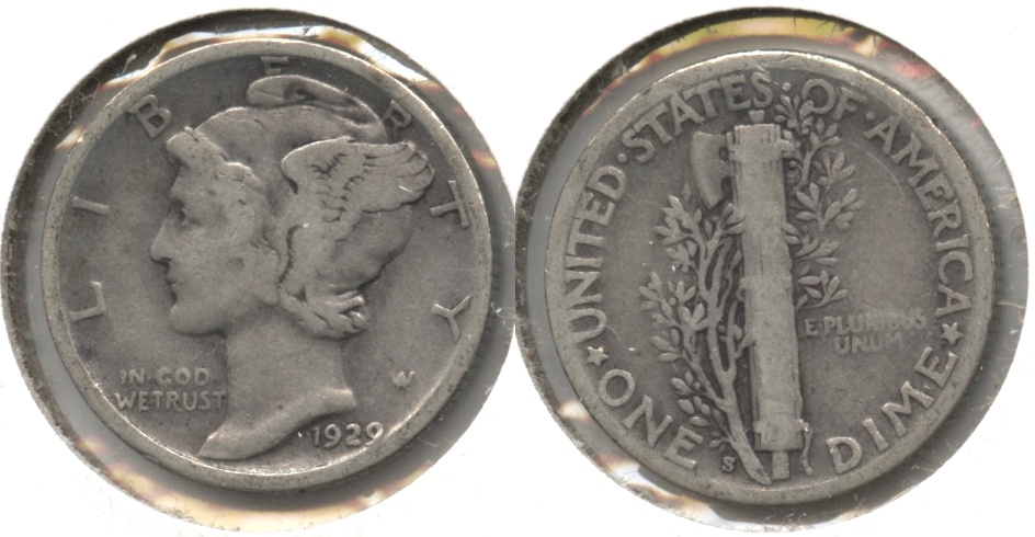 1929-S Mercury Dime Good-4 #f