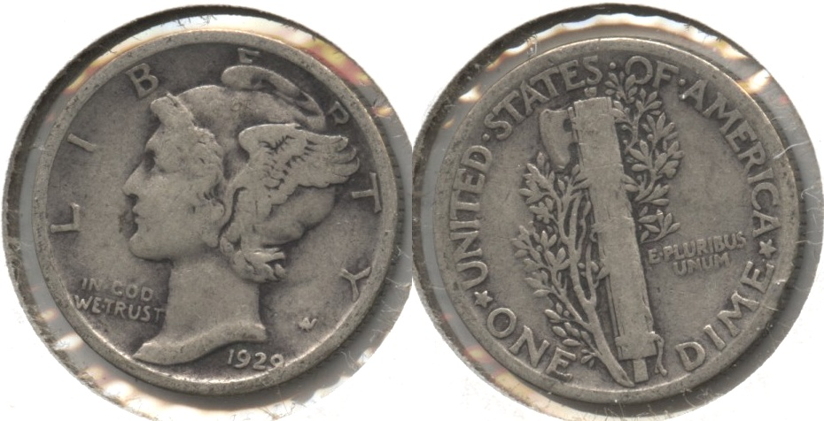 1929 Mercury Dime Good-4 #c