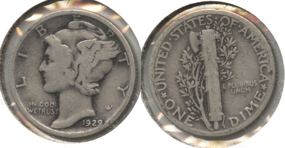 1929 Mercury Dime Good-4 #o
