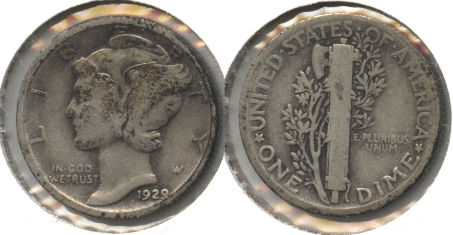 1929 Mercury Dime Good-4 #t