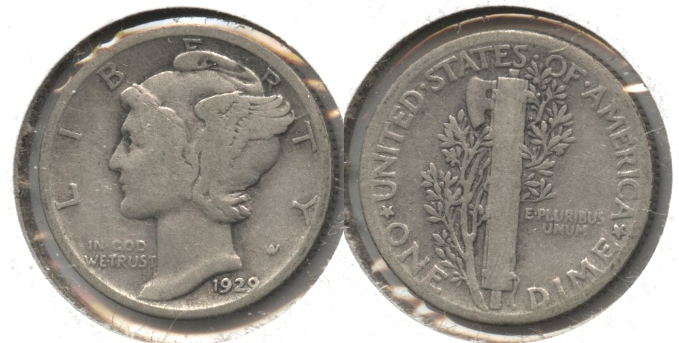 1929 Mercury Dime Good-4 #v