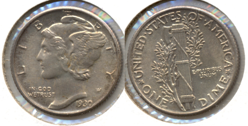 1930 Mercury Dime MS-63 Full Bands