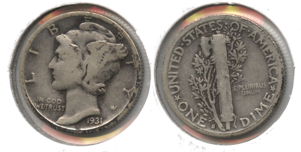 1931-S Mercury Dime Good-4