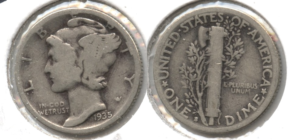 1935-S Mercury Dime Good-4 #e