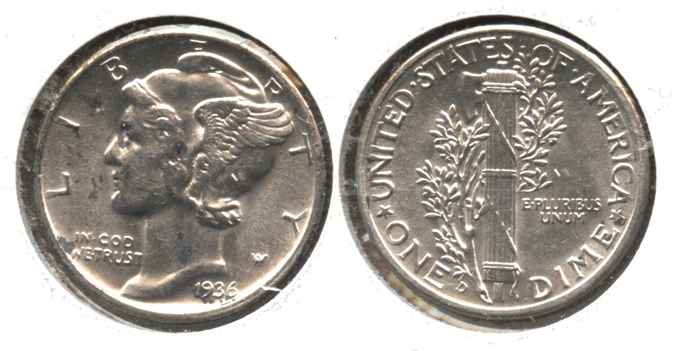1936-D Mercury Dime MS-63