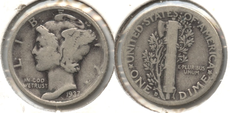 1937-D Mercury Dime Good-4
