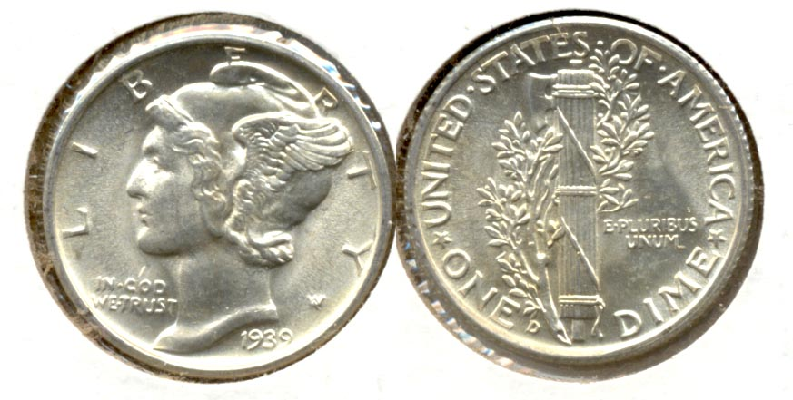 1939-D Mercury Dime MS-63 b